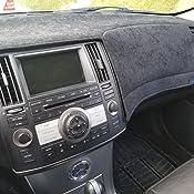 Sala-Store Car Dash Cover Dashboard Dashmat Sun Visors Sunshade Mat Carpet for Infiniti FX35 FX45 FX50 2003-2008 Black Beige Anti-Slip