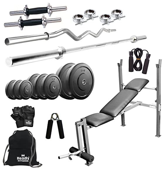 Headly 30 Kg Combo 8 Home Gym Exercise Sets