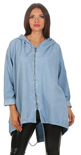 Mississhop, hergestellt in EU - Chaqueta - para mujer azul claro Talla única