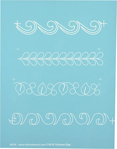Hancy Creations 60000 Along The Way Swirl Border by Anne Bright Full Line Stencils