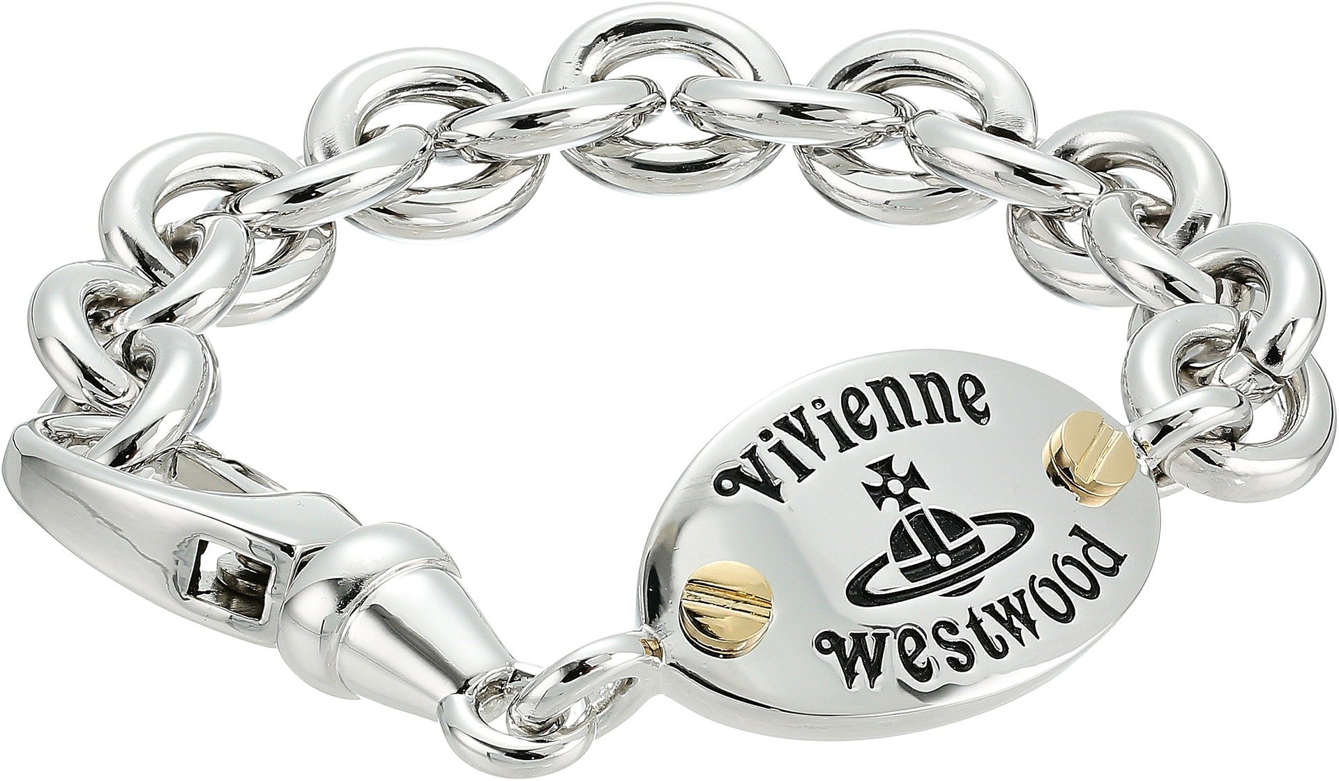 Vivienne Westwood Men's Frederic Bracelet Antique Rhodium/Gold One Size