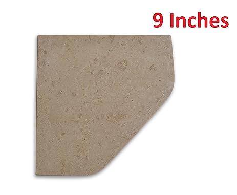 Marble 9u0026quot; Travertine Shower Corner Shelf Walnut Natural Stone Bathroom  Caddy Bath Soap Dish By