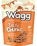 Wagg Tasty Chunks with Chicken, Ham and Beef 150 g (Pack of 7)