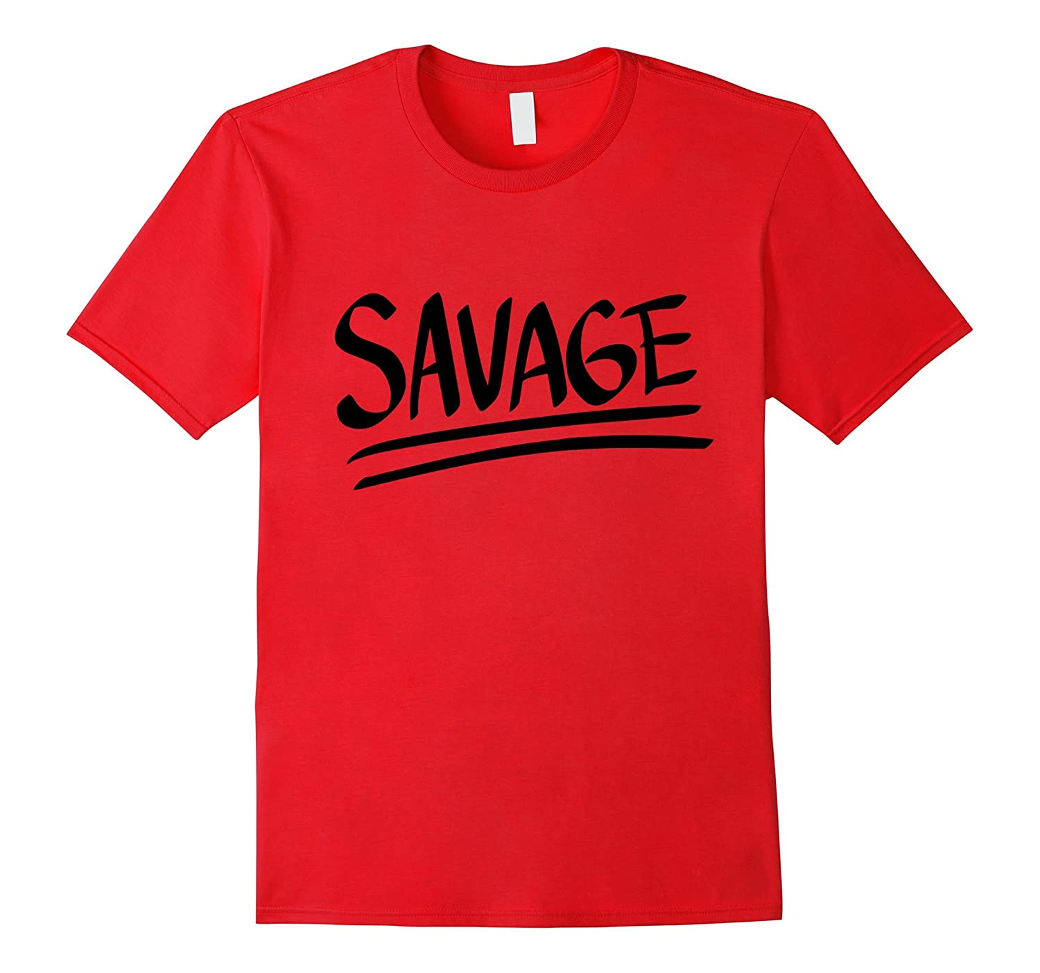Savage Handwritten Graffiti T-shirt-Art