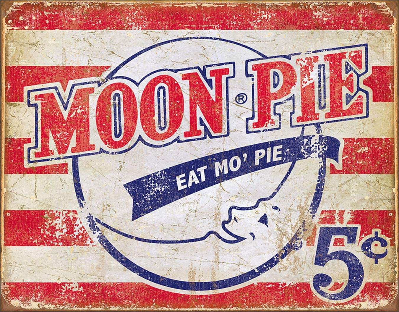 Desperate Enterprises Moon Pie - American Tin Sign, 16