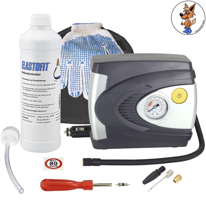 Elastofit - Kit di emergenza per la riparazione dei pneumatici, con mastice, prodotto inalterabile per 10 anni Basic