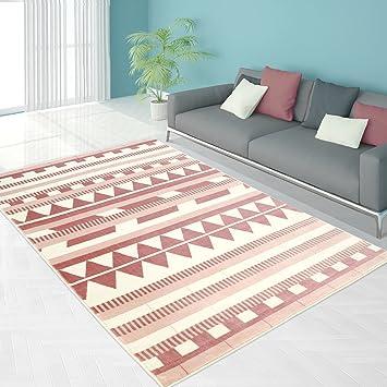 Teppich Modern Designer Wohnzimmer Schlafzimmer Läufer Inspiration Else  ZickZack Pastell Rosa Blau , Größe In Cm