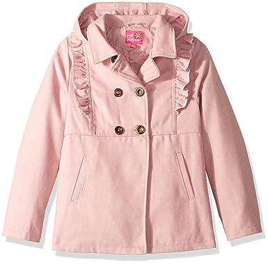 4a1cdb92c Pink Platinum Girls  Ruffles Wool Jacket  Amazon.in  Clothing ...