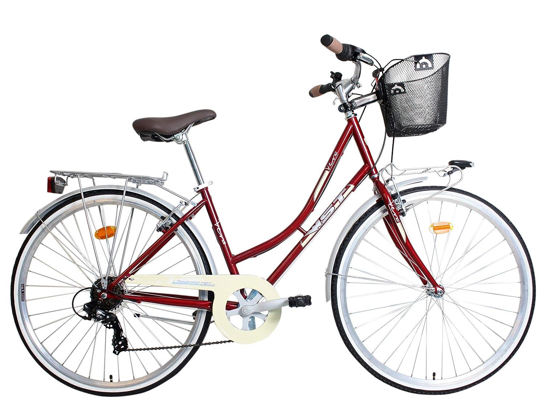 WST Vera Bicicleta de Paseo, Adultos Unisex, Amaranto, M: Amazon ...