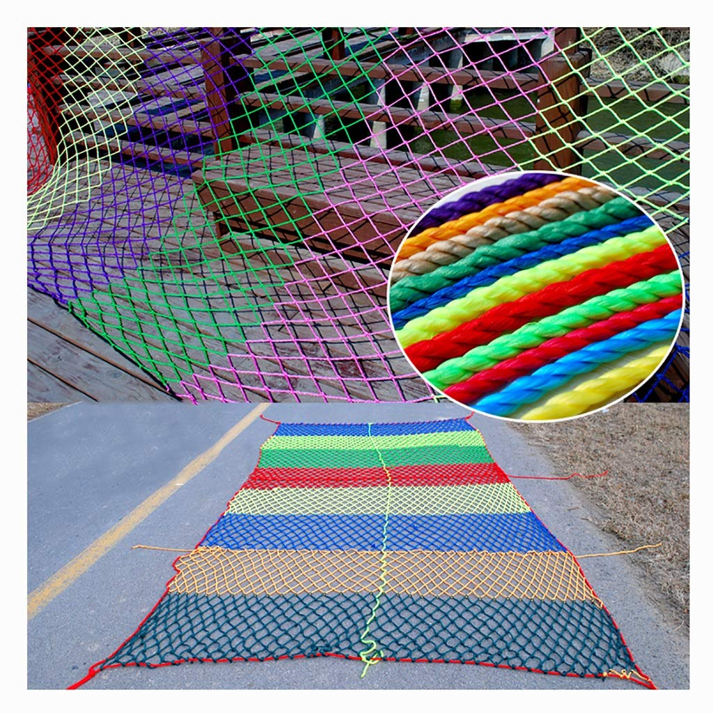 Wlh Anti-Fall Net Decoration Rope Net, Children Cat Dog Pet Animal Safety Net Protection Net Rope Net, Used for Amusement Park Garden Tunnel Nylon Net (Color: Red) (Size: 6 Mm Rope 8 cm Hole) by Wlh (Image #3)