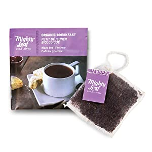 Mighty Leaf Tea Organic Breakfast Tea Pouches, 100ct Black Tea Bags in Individual Foil Packs, USDA Organic