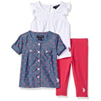 U.S. Polo Assn. Baby Girls Knit Fashion Top and Legging Set