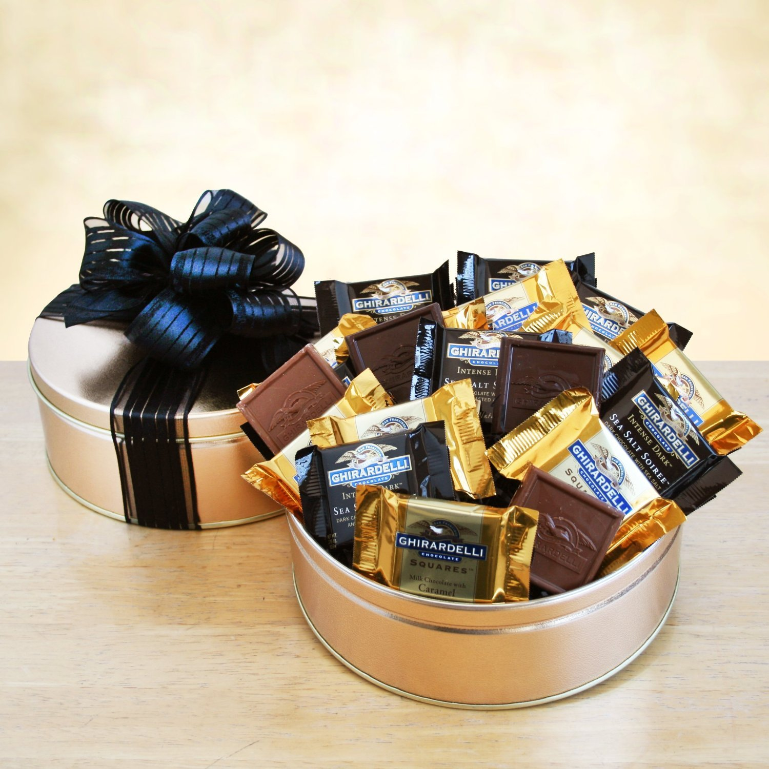 Amazon.com : Ghirardelli Chocolate Corporate Gift Tin : Grocery ...