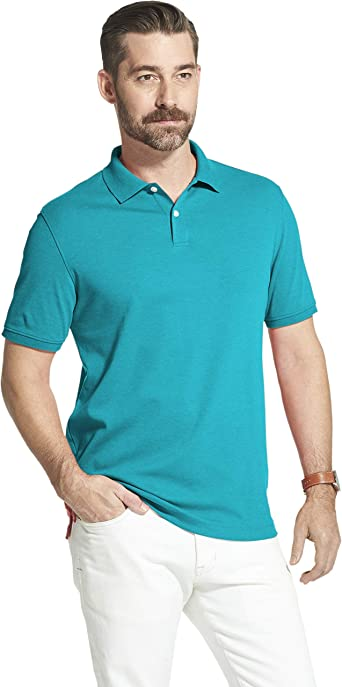 Arrow Mens Big and Tall Cool Cotton Short Sleeve Heather Polo Shirt 4X-Large Dragonfly