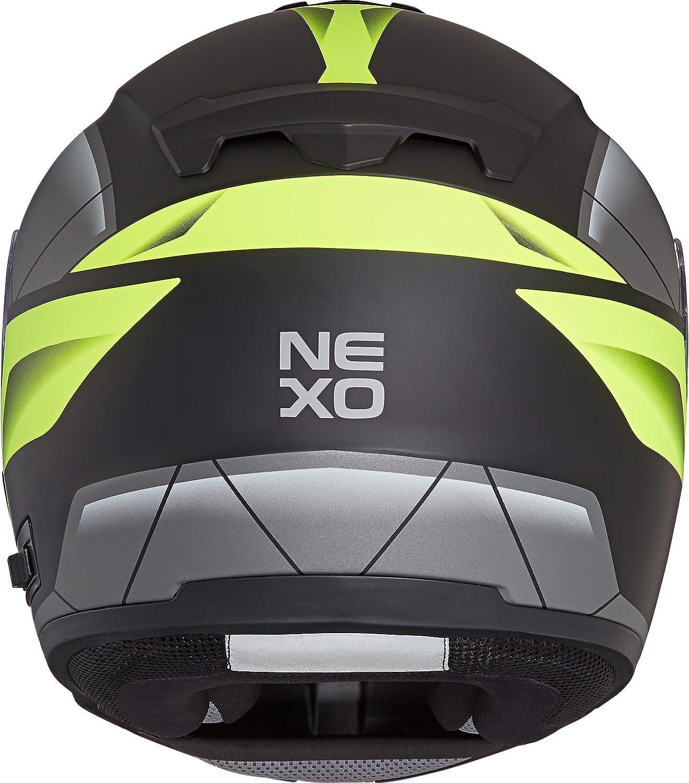 XS Bel/üftung Ratschenverschluss kratzfestes Visier Nexo Klapphelm Motorradhelm Helm Motorrad Mopedhelm Comfort 1.550 g Diverse Farben und Designs f/ür Damen und Herren XL
