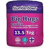 Slumberdown Big Hugs - Piumone matrimoniale, 13.5 Tog, Bianco, King