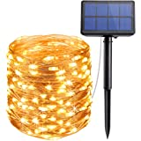 【New Version】Criacr Solar String Lights, (200 LED, 8 Modes) Copper Wire String Lights, 72 ft/20m Solar Fairy String Lights, Waterproof 1.2 V Portable for Patio, Garden, Home, Wedding, Pathway, Party