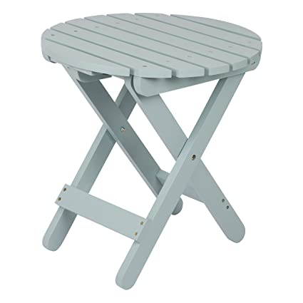Shine Company Adirondack Round Folding Table, Dutch Blue