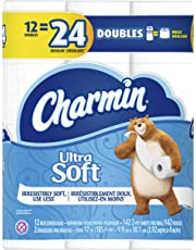 Charmin Ultra Soft Toilet Paper 12 Double Rolls, 142 sheets per roll (packaging may vary)