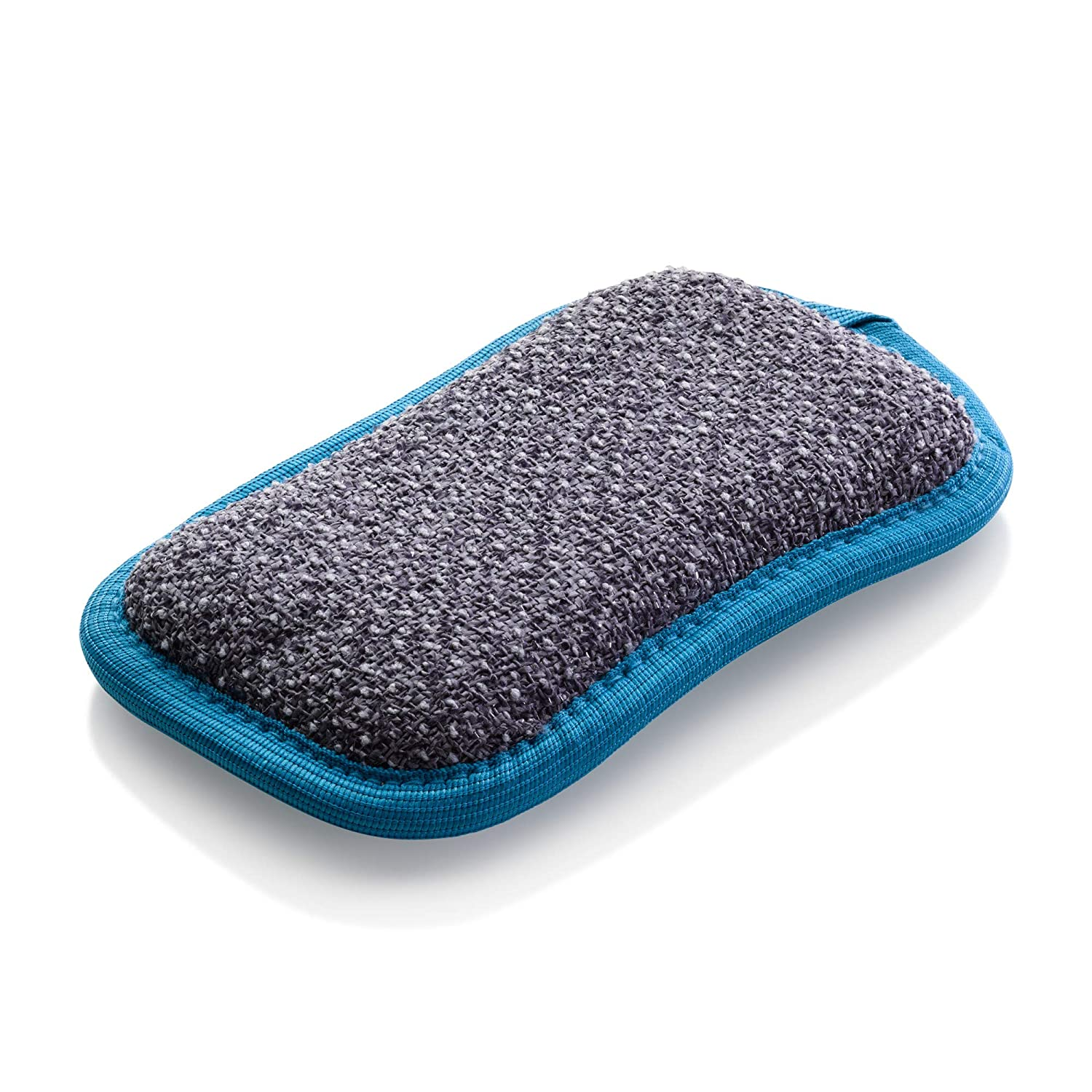 E-Cloth Washing Up Pad - Non-Scratch Kitchen Scrubber/Wiper - Brilliant for Removing Stuck-On Food from Pots & Pans - Blue
