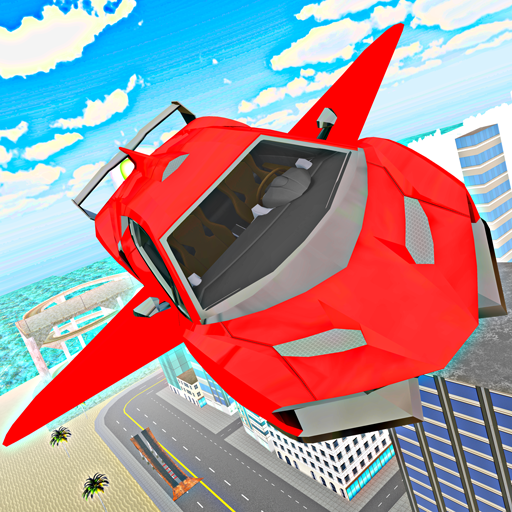 (Sports Car Flying - City Driving Flight)