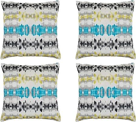 Cojines Fundas Almohada 45x45cm Sofa Cama decoración habitación Oficina Jardin, Pack de 4 Unidades (G, 45x45cm): Amazon.es: Hogar