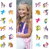 John & Judy 24 Unicorn Temporary Tattoos for Girls   Individually Wrapped Metallic Tattoos   For Unicorn Party Supplies   Goody Bags and Games   Party Favors and Princess Birthdays for Children