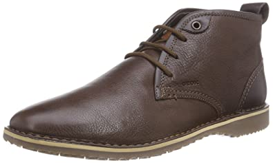 Geox U Zal, Men's Desert Boots, Brown (Dark Brown), 6 UK