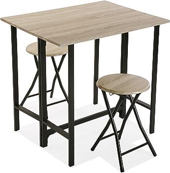 Versa 20880043 Set de Mesa y Dos sillas para Cocina o Comedor en ...