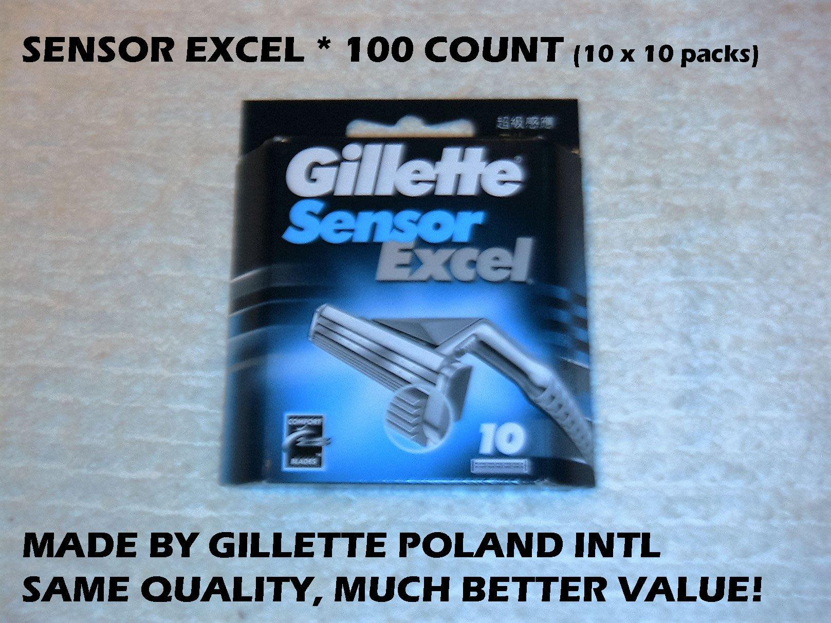 Gillette Sensor Excel - 100 Count (10 x 10 Pack)