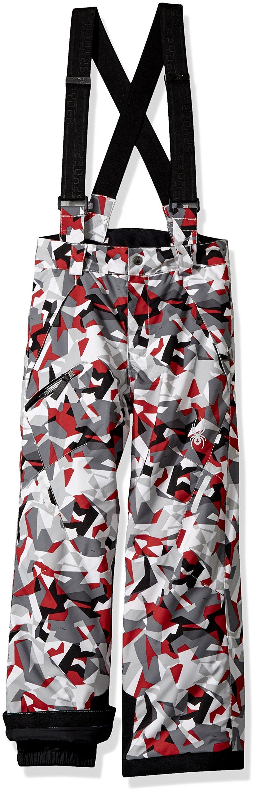 Spyder Boy's Propulsion Ski Pant, White Mini Camo Print, Size 08