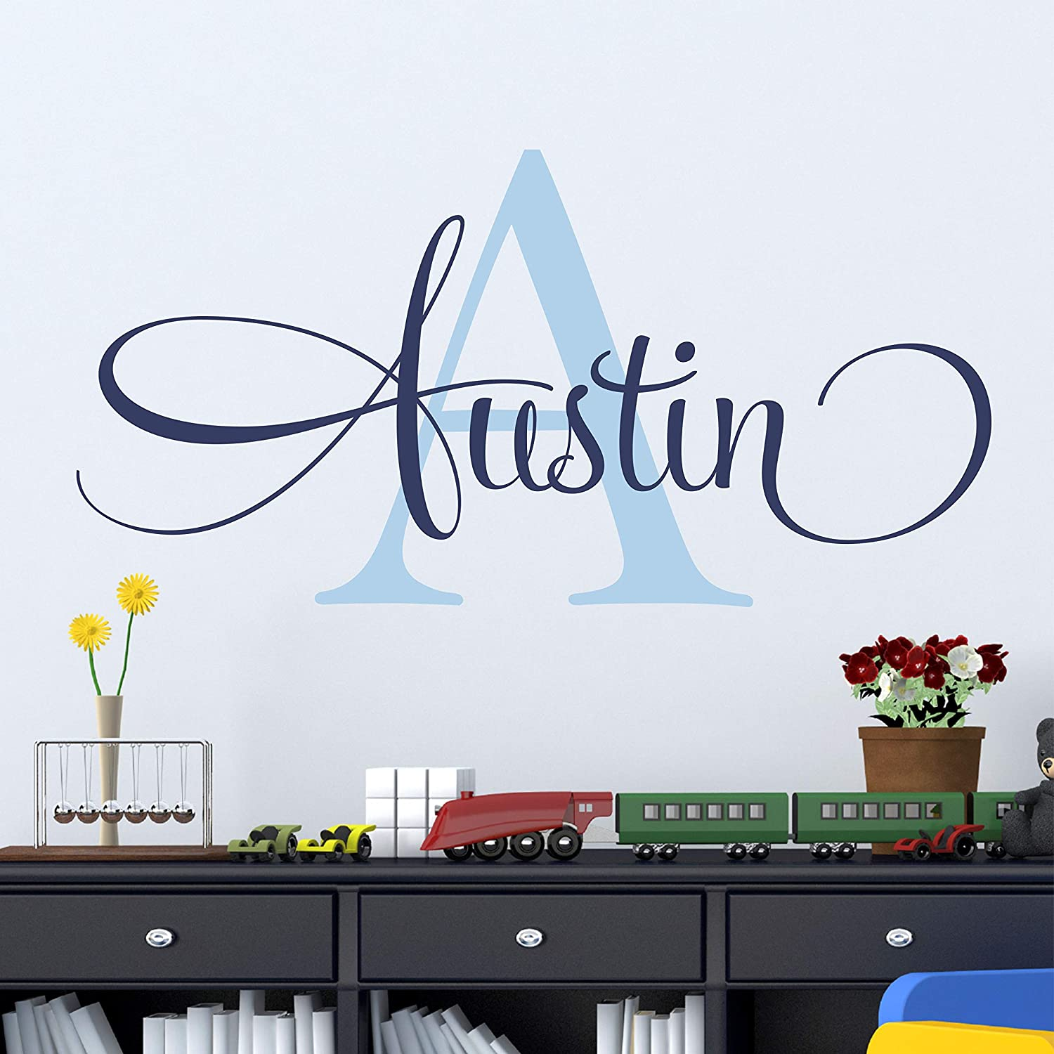 Personalized Name Wall Decal Nursery Decal Baby Monogram Vinyl Wall Art Name Wall Decal Sticker Custom Name Wall Decal Girls Room Boys Room