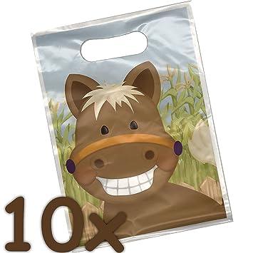 10 bolsas de fiesta * süsses Pony * para obsequios de ...