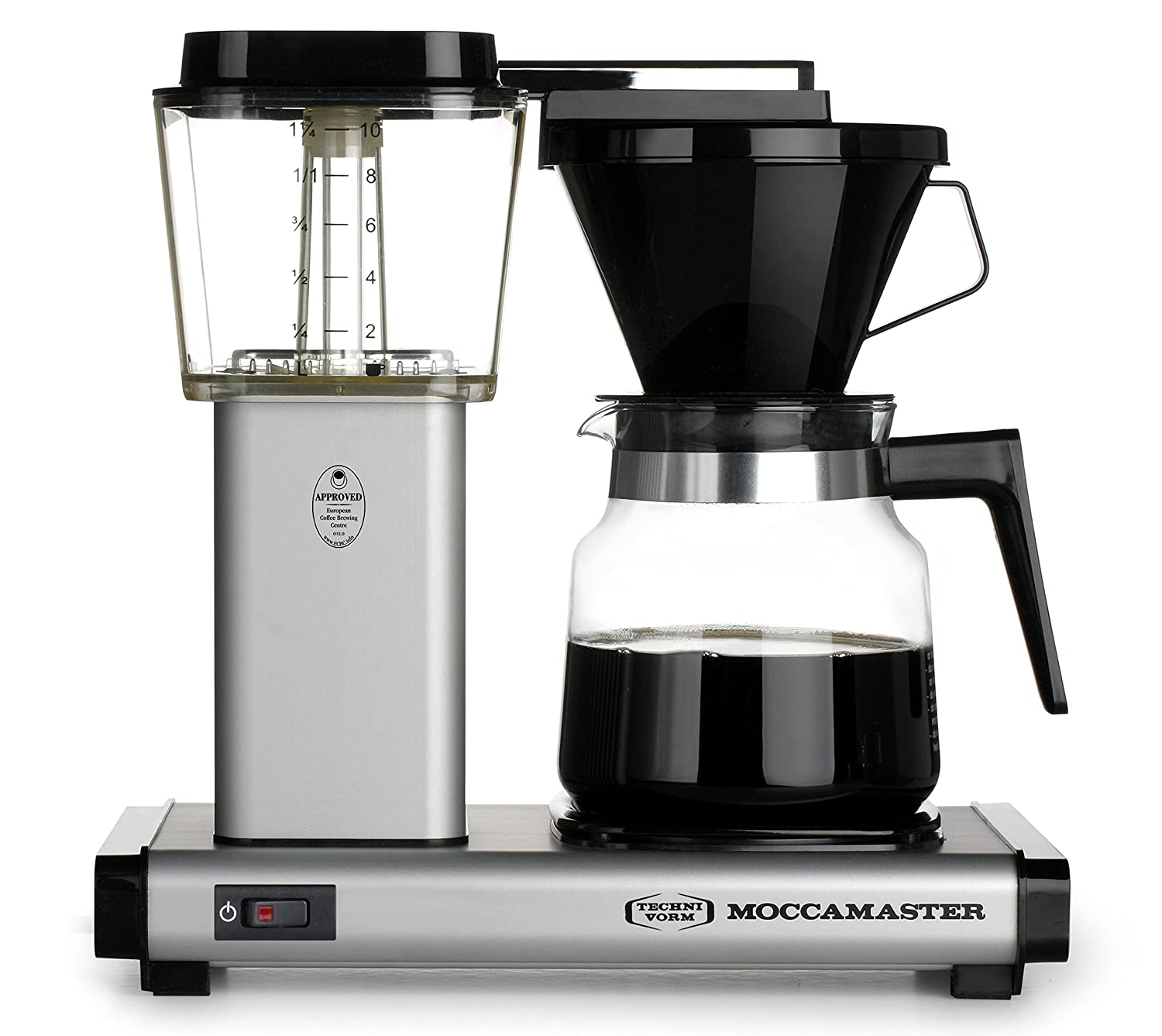 Technivorm Moccamaster 59712 K Coffee Brewer, 40 oz, Matte Silver
