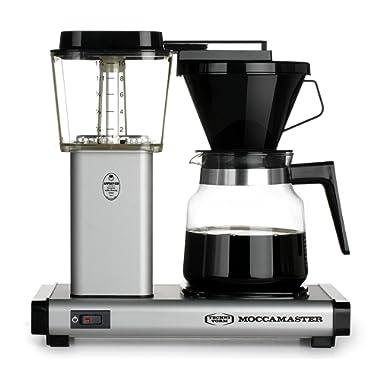 Technivorm Moccamaster 59712 K Coffee Brewer, 40 oz, Matte Silver