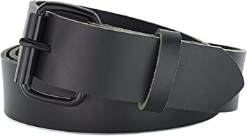 2c9e5f821bf Naleeni Womens Black Leather Belt with Buckle Options. Made in USA 1.5 Inch  Wide