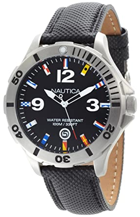 Nautica Mens N12565G BFD 101 Black Dial Watch