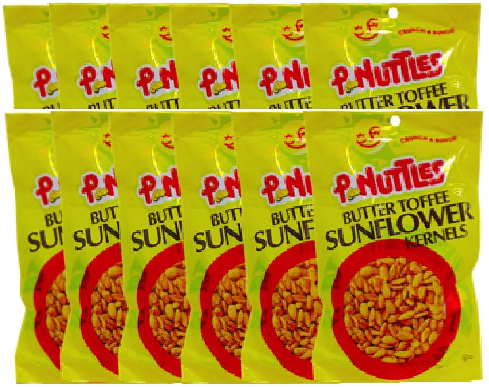 NEW Pnuttles Butter Toffee Sunflower Kernels Net Wt 4.5 Oz (12) by Peanuttles