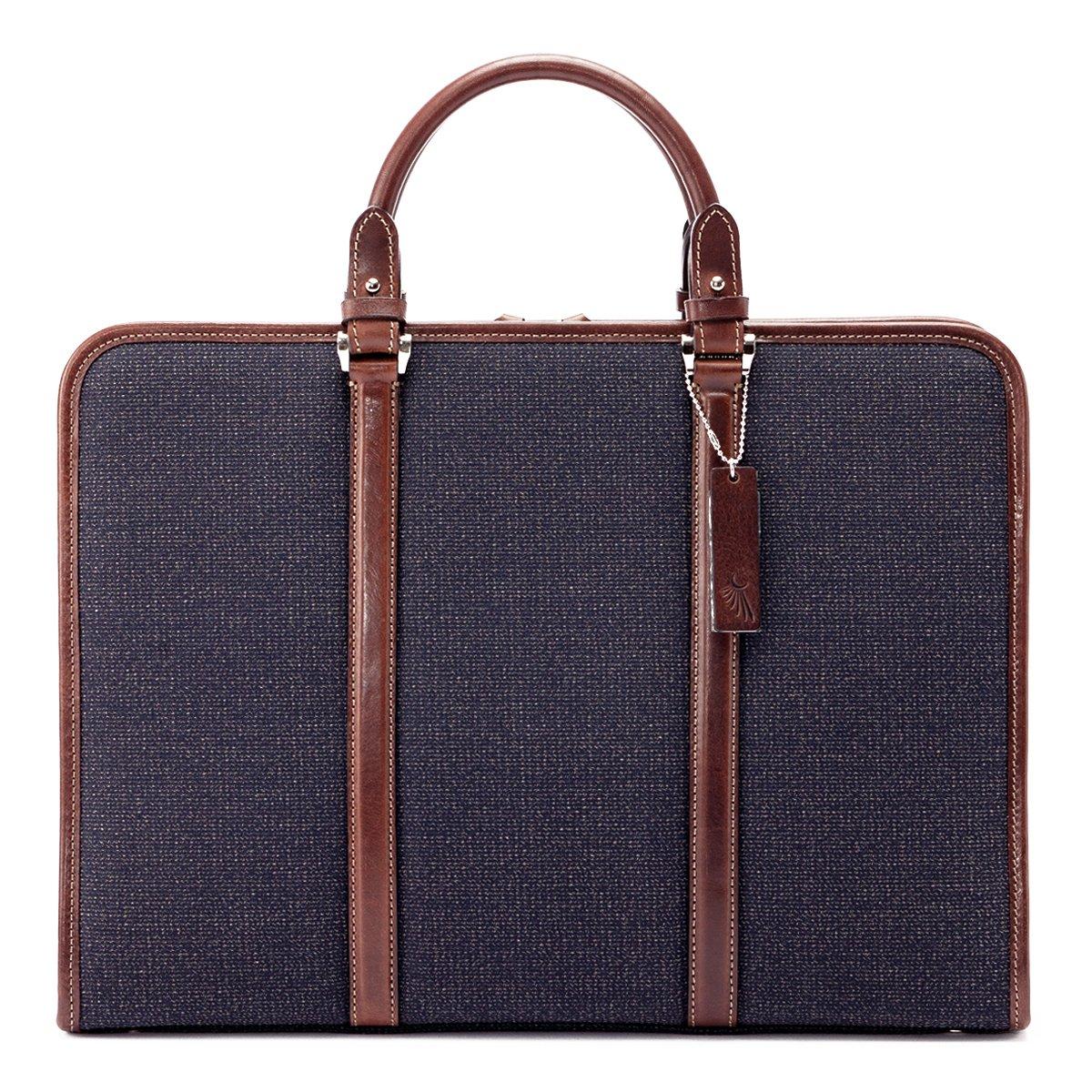 [トーテムリボー] ブリーフケース ビジネス 豊岡鞄 トーテム 牛革 TRV0002  ブラウン B07CYNY196
