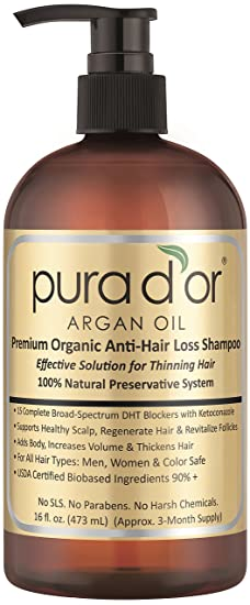 Pura d'or Gold Premium Hair Loss Shampoo