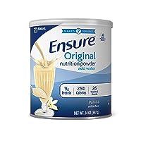 Ensure Original Nutrition Powder with 9g of Protein Per Serving, Vanilla, 14 ounces