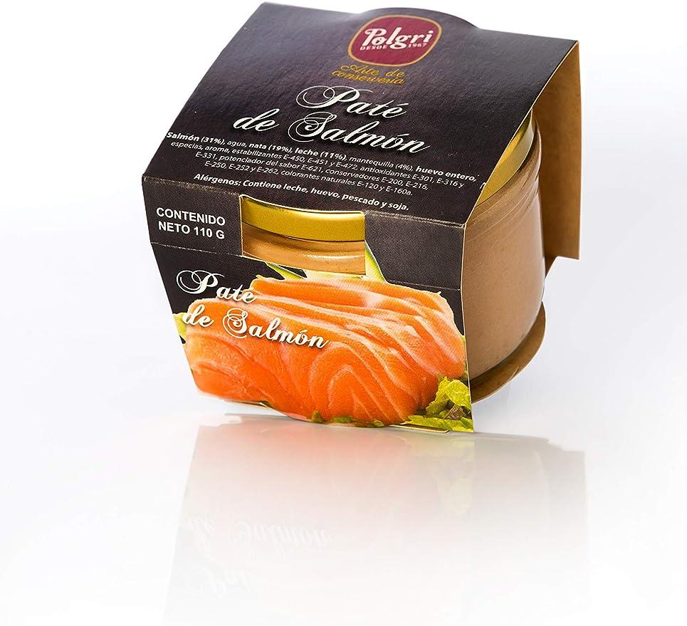 Paté de Salmón Polgri 110 grs. x 12 unds. (pescado): Amazon ...