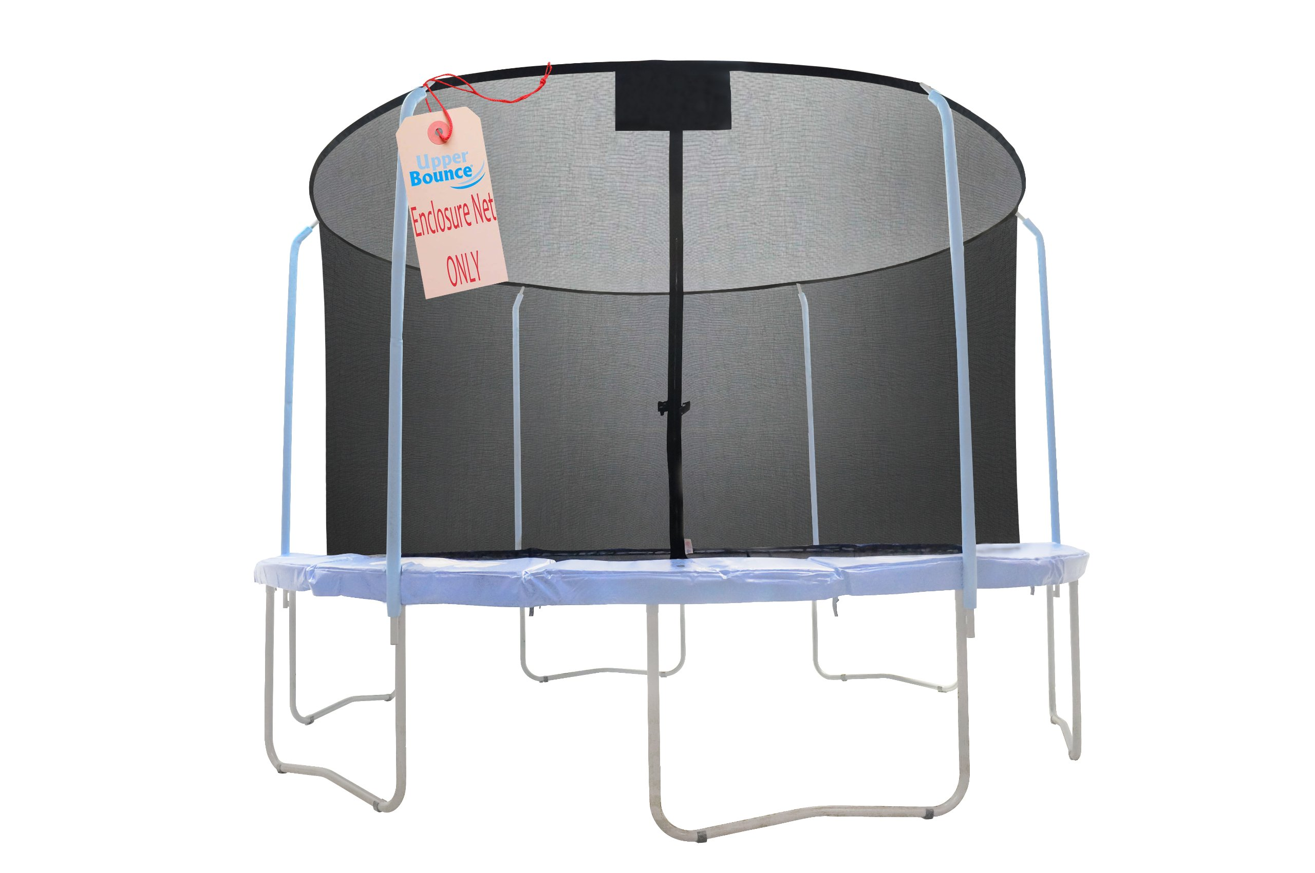 SKYTRIC Trampoline Enclosure Net (Universal) 15 ft Frame: 6 Curved Pole: with Top Ring Enclosure Systems -Sleeve on top Type- by SKYTRIC (Image #2)