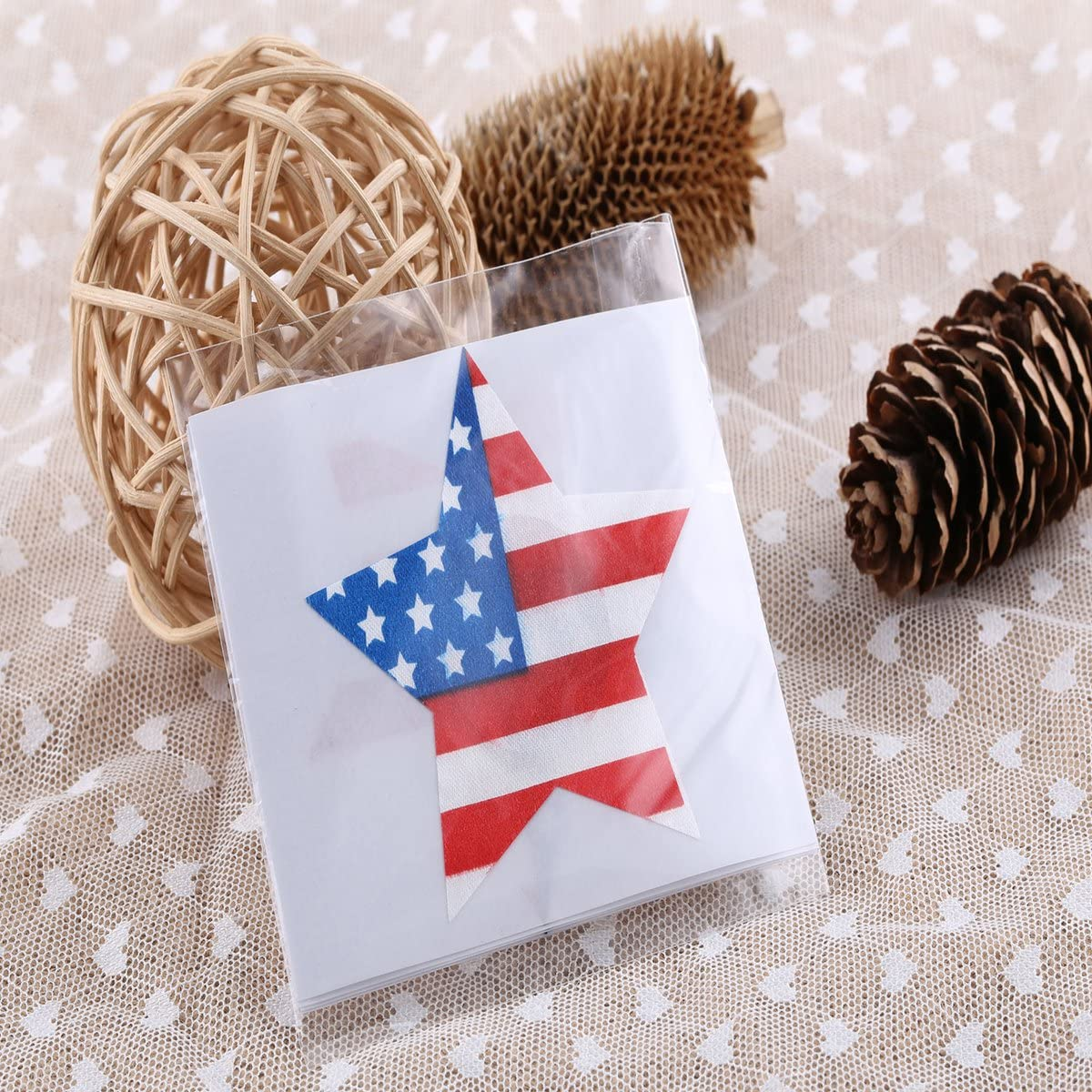Mothers Day gift or gift for women Tinksky Disposable Nipple Stickers American Flag Strip Star Lingerie Pasties 12 Pairs