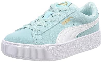 Puma Unisex-Kinder Vikky Platform AC PS Sneaker, Blau (Island Paradise White), 32 EU