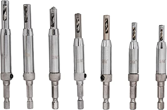 Self Centering Hinge Drill Bits Sets For Metal Drilling 4 7 Pcs High Speed Steel
