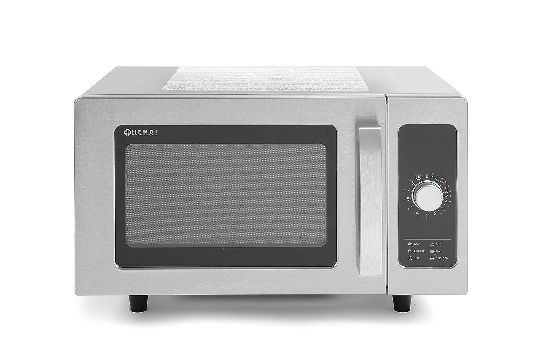 Hendi 281352 profesional 1000 W programable Microondas, 25 L ...