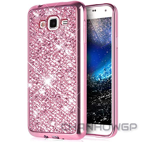 Amazon.com: Hulione Bling Glitter Soft Case for Samsung ...