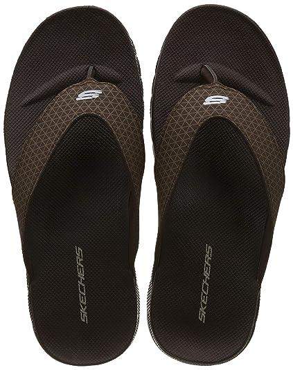 ee0e200cafc60 Skechers Men s Thong Sandal Chocolate Hawaii Sandals-10 UK India (45 EU)