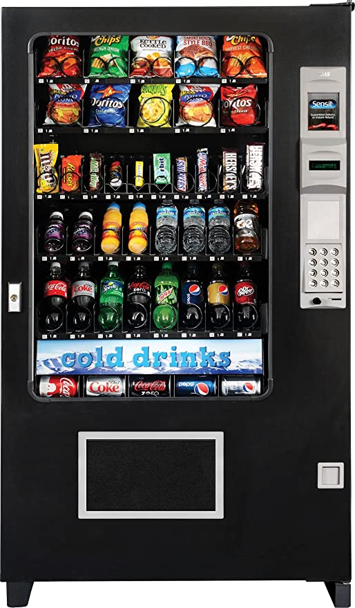 Brand New AMS Combo Glass Front Soda//Snack//Candy Vending Mach Made In America